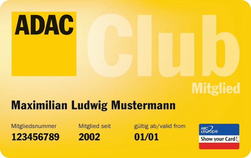Abbildung einer ADAC Clubkarte