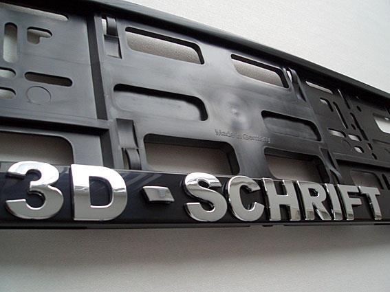 3D-Buchstaben – ein Mehrwert für Ihr Fahrzeug
